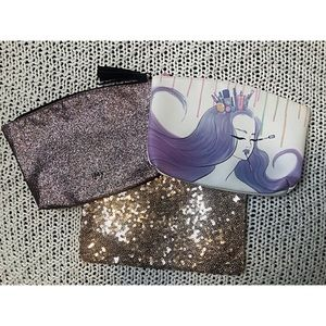 Set of 3 NEW Ipsy makeup bags